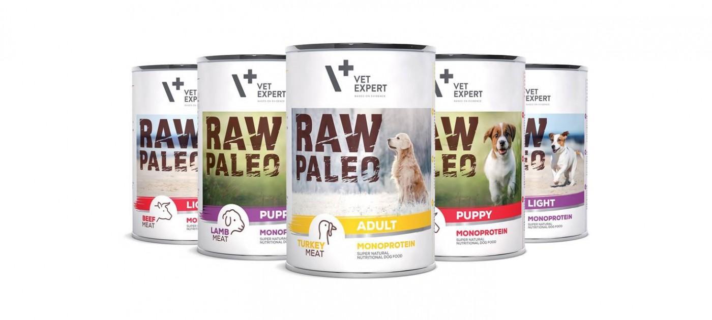 VetExpert wprowadza linię karm wilgotnych dla psów – RAW PALEO