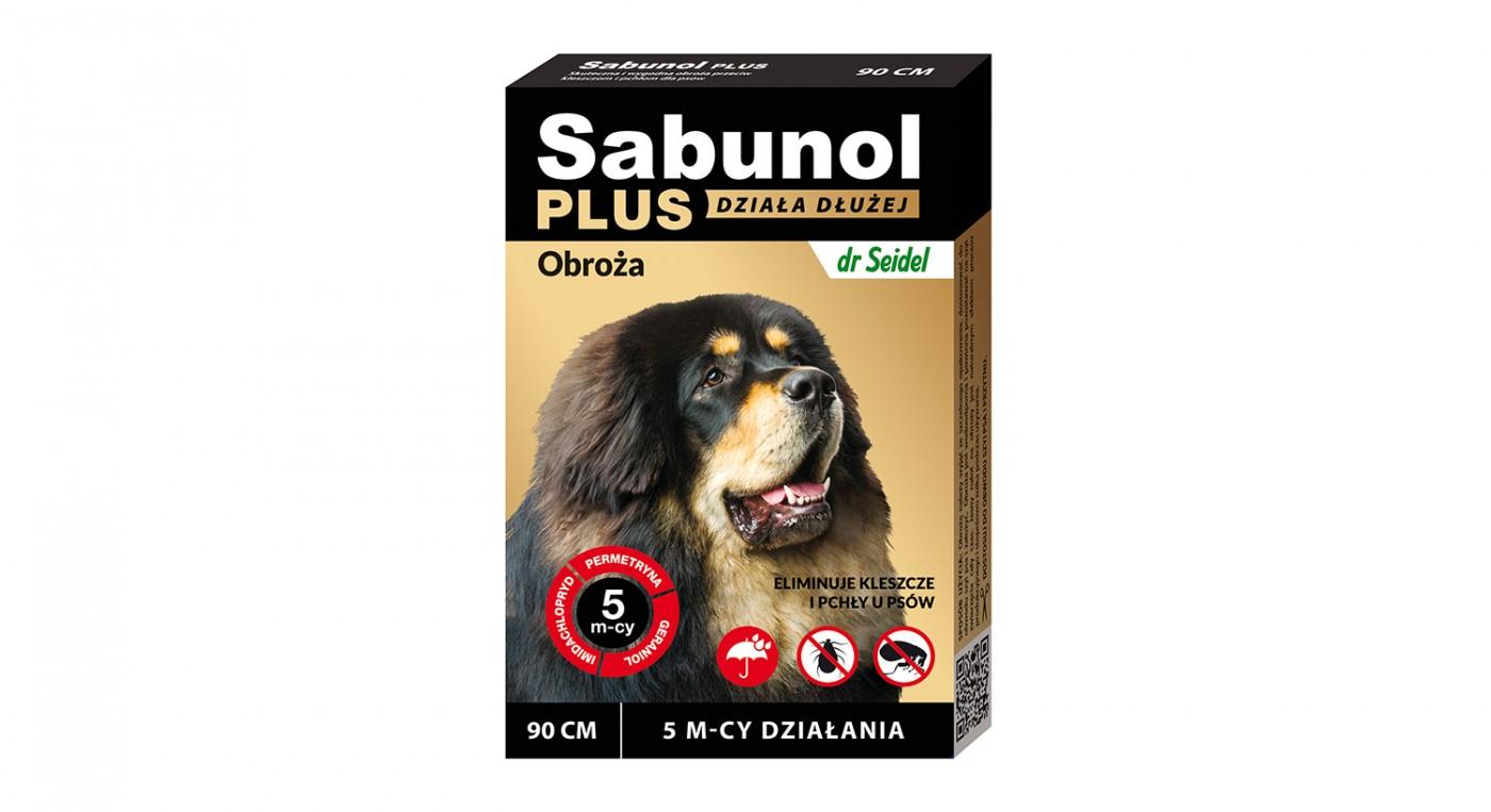 Sabunol Plus obroża przeciw pchłom i kleszczom dla psów 90 cm