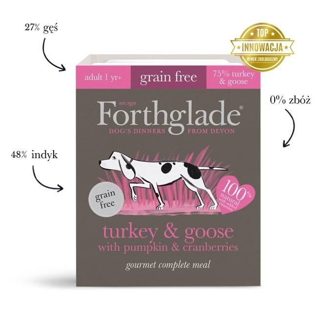 Mokra karma dla psa Forthglade Gourmet Indyk i Gęś z dynią i żurawiną