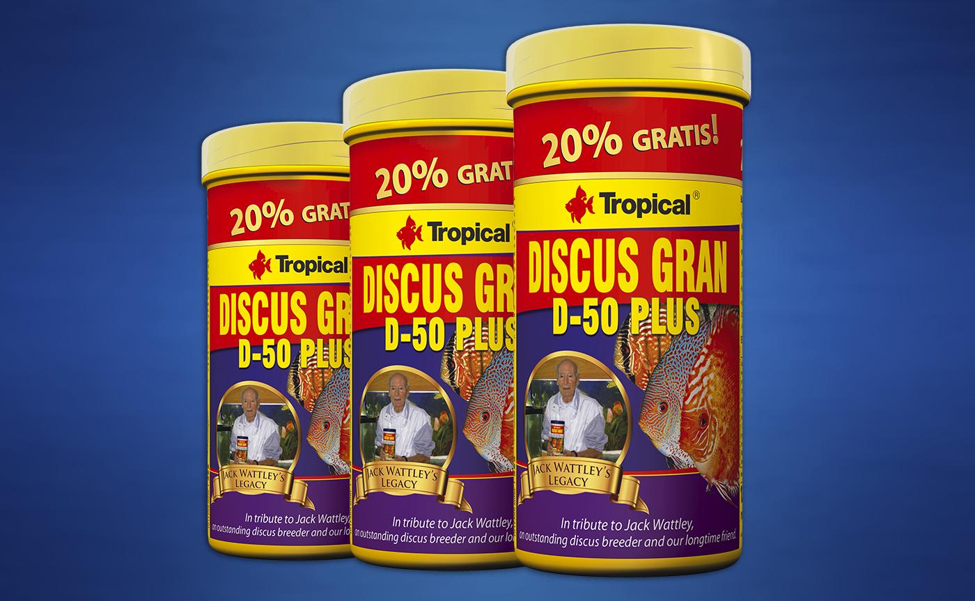 20% GRATIS – DISCUS GRAN D-50 PLUS
